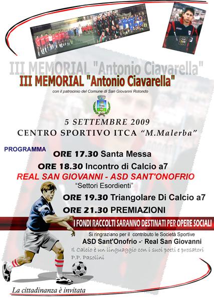 San Giovanni Rotondo NET - 3° Memorial Antonio Ciavarella