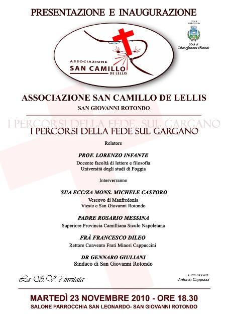 San Giovanni Rotondo NET - Associazione 'San Camillo de Lellis'