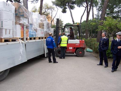 San Giovanni Rotondo NET - L'arrivo degli aiuti raccolti a San Giovanni Rotondo