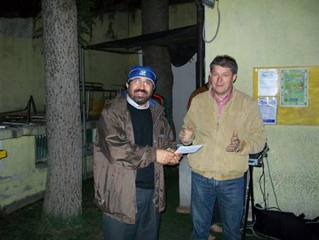 San Giovanni Rotondo NET - Mundialito 2009, Padre Tonino Zoccano con Antonio Cappucci, Presidente del Sant'Onofrio Calcio