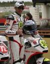 Michele Pirro sul podio di Valencia