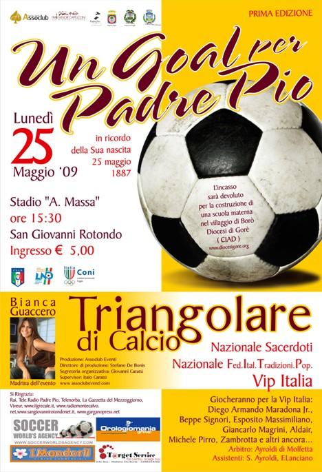 San Giovanni Rotondo NET - Un goal per Padre Pio