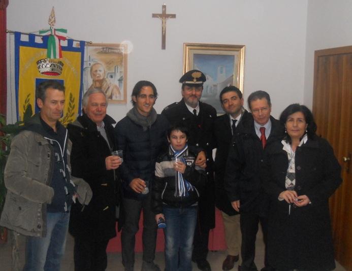 Cristian Agnelli inaugura il Presepe vivente di Rignano