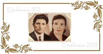 Incoronata e Francesco festeggiano settant'anni di vita insieme
