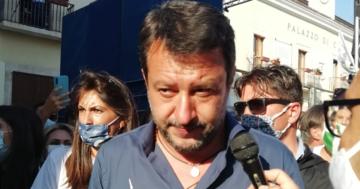 La tappa di Matteo Salvini a San Giovanni Rotondo