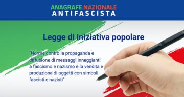 Raccolta firme per la legge di iniziativa popolare antifascista
