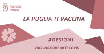 La Puglia ti vaccina: niente prenotazione la Regione decide dove e quando