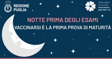 Da domenica 30 maggio partono in Puglia le vaccinazioni dei maturandi