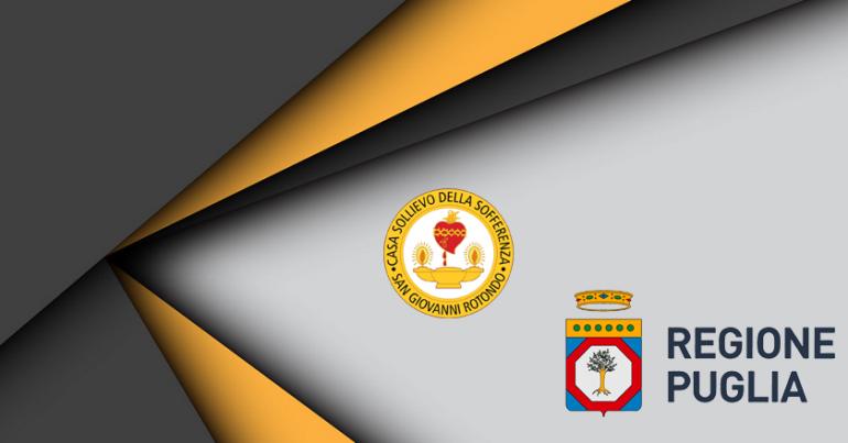 Sottoscritto accordo tra Regione Puglia ed Irccs Casa Sollievo della Sofferenza