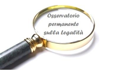 Risultati immagini per OSSERVATORIO PERMANENTE SULLA LEGALITA'